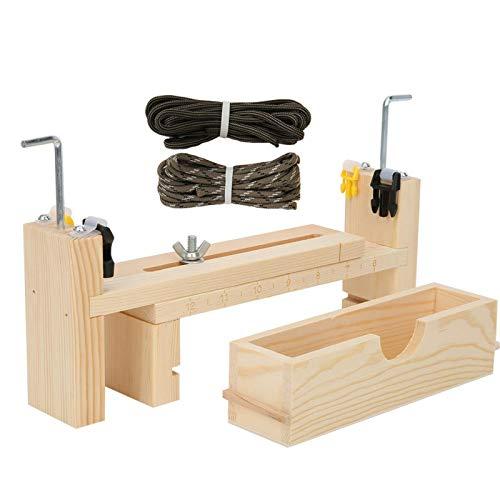 KUIDAMOS DIY Convenient Bracelet Braiding Tool Weaving Paracord Jig Wooden Bracelet Jig Kit Adjustable Durable Necklace for DIY Craft