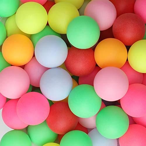 KEVENZ Ping Pong Balls,100-Pack Assorted Color Beer Pong Balls, Bulk Table Tennis...