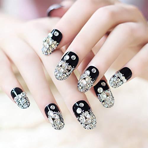 Fdesigner Bride Fake Nails Crystal Flase Nail Decoration Acrylic Nail Art...