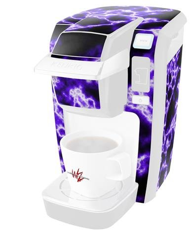 Decal Style Vinyl Skin compatible with Keurig K10 / K15 Mini Plus Coffee Makers Electrify Purple (KEURIG NOT INCLUDED)