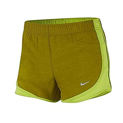Nike Women's Dri-Fit Tempo Running Shorts (Olive, S)
