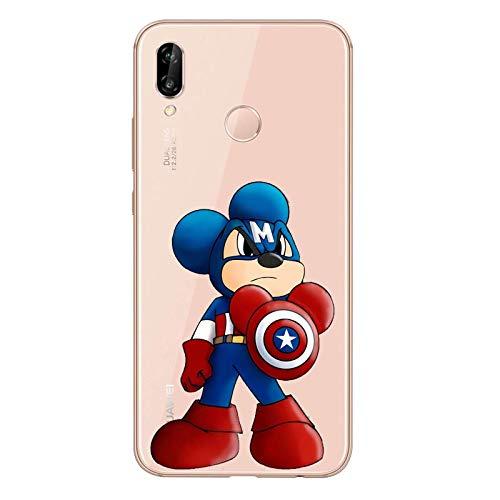 Todo Fundas para Huawei Mickey Mouse Minnie Walt Disney Pato Donald Daisy Pluto Goofey Chip Chop Winnie Pooh Niños Dibujos Carcasa Gel Silicona...