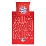 FC Bayern München Bettwäsche Glow mia San mia
