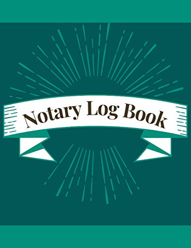 Notary Log Book: One per page notary public logbook to Log Notorial Record Acts By A Public Notary