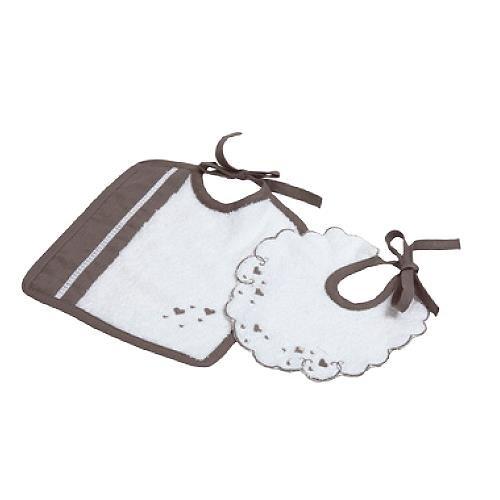 Lait Baby Sprl Rayon de Lune Set pour la vaisselle, blanc/taupe,