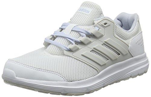 adidas Galaxy 4, Zapatillas de Entrenamiento Mujer, Blanco (Footwear White/Grey/Aero Blue 0), 44 2/3 EU
