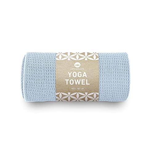 Lotuscrafts Telo Yoga Antiscivolo Grip - Antiscivolo e ad Asciugatura Rapida - Asciugamano Yoga Antiscivolo con Un'Elevata Aderenza al Pavimento - Hot Yoga Towel Antiscivolo [183 x 61 cm]