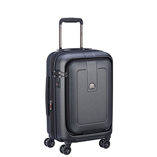 Delsey Paris Grenelle 55 cm 4 Double Wheels Cabin Expandable Carry-On (Hardside), Anthracite (00203980101)
