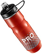 PRO BIKE TOOL Geïsoleerde fiets waterfles 680 ml 24 oz - sport draaglus - voor alle fitness en fietsen - Houd dranken koud, langer - zachte siliconen mondstuk - Fast Flow Valve - Easy Squeeze Bidon