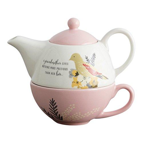 DaySpring Nothing More Precious – Conjunto de bule de chá para avós