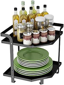 Apsan 2-Tier Kitchen Corner Organizer Shelf