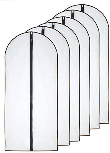 Hanging Garment Max 61% OFF Bags 24'' x 55'' Clear OFFicial store Set 6 of Ligh Bag Dress