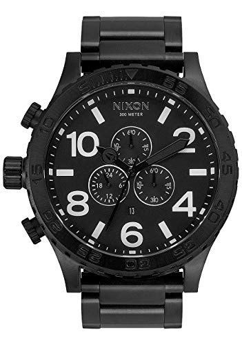 Nixon 51-30 Chrono Men's Underwater Stainless Steel Watch (51mm. Stainless Steel Band) (Black)