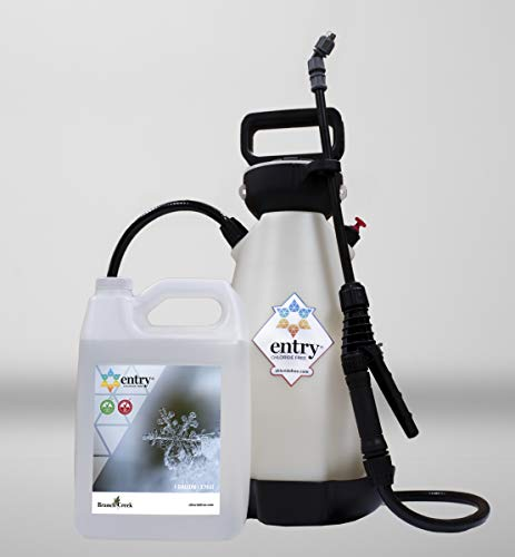 Branch Creek Entry Chloride-Free, Non-Toxic Liquid Ice Melt and Manual Pump Sprayer Bundle-Quick, Clean and Optimal Application–for Entrances of Commercial and Larger Residential Properties (1 Gallon)