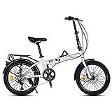 TYXTYX Bicicleta Plegable Street, 7 velocidades, transportable, Plegable para Transporte en Coche, autobús, caravanas, Transporte público, Barco, yate,Adultos Unisex,Talla Unica
