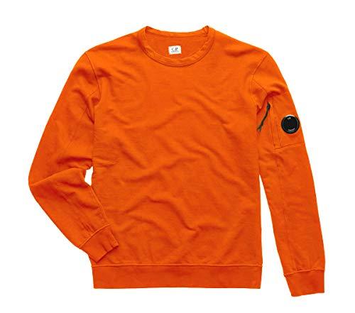 C.P. COMPANY Felpa Uomo Garment Dyed Light Fleece Lens 08CMSS053A002246G499 Orange PE20 M