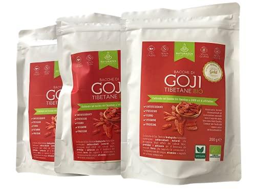 NaturaZen Bacche di Goji Biologiche Gold Quality Limited 200g, Gusto Fruttato