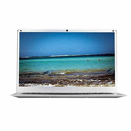 WXZQ 14 Pulgadas de Pantalla de Alta definición portátil 16: 9 cámara de computadora para Windows 10 Silver EU 2GB + 32GB Quad Core