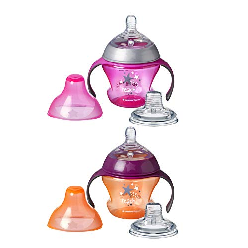 Tommee Tippee Closer to Nature First Sips Transition Cup, BPA-Free, 4+...