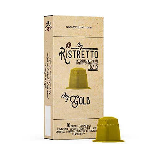 100 MyGold Kaffee Kapseln - Nespresso Kompatible kapseln - MyRistretto