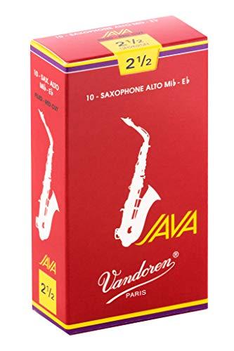 Vandoren SR2625R - Caja de 10 cañas java red n.2.5 para saxofón alto
