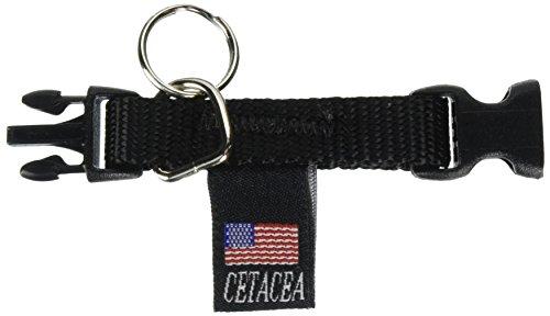 Cetacea Tag-It Pet ID Holder, Black