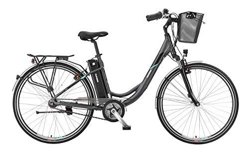 Telefunken E-Bike Elektrofahrrad Alu 28 Zoll mit 3-Gang Nabenschaltung, Pedelec Citybike leicht mit Fahrradkorb, Mittelmotor 250W 10,4 Ah, 36V Sitzrohrakku, RC771 Multitalent