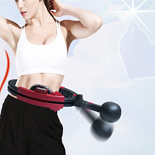 Best Buy! EUGNN Sport Hoop Detachable ABS Magnetic Adjustable Weight Loss Burning Fat Fitness Tighte...