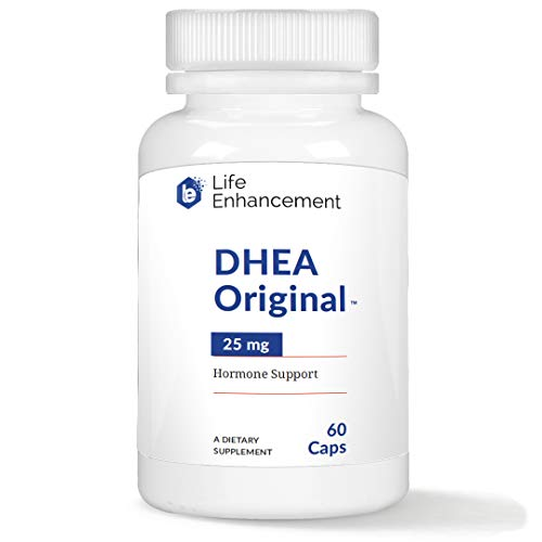 Life Enhancement DHEA Original | Hormone Balance for Men and Women | 25 mg DHEA with 4 mg Vitamin C for Improved Bioavailability | 60 Servings