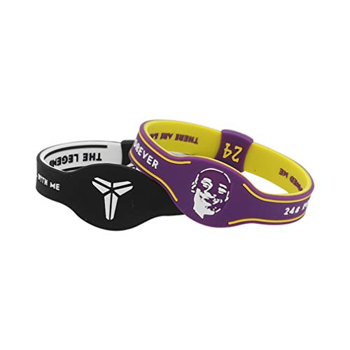 2 Pezzi/Lotto Silicone NBA Los Angeles Lakers Kobe Bryant 24 Braccialetto Luminoso in Silicone