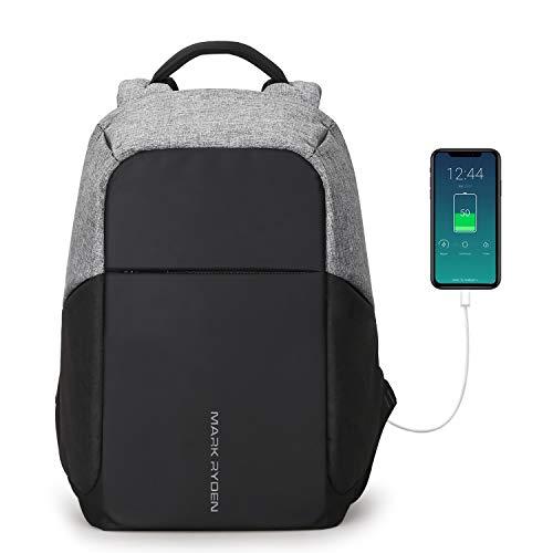 """Mochila Antirrobo,Mochila de Portátil con Puerto de USB para Ordenador hasta 15,6 """"Pulgadas, Bolsa de Negocios Hombres y Mujeres Impermeable Escolares Viaje"""