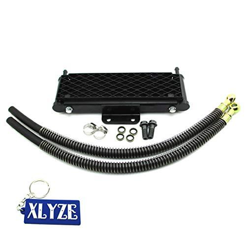 XLYZE M10x1.25 Enfriador de aceite de radiador de alto flujo para 125cc 140cc 149cc Pit Dirt Bike