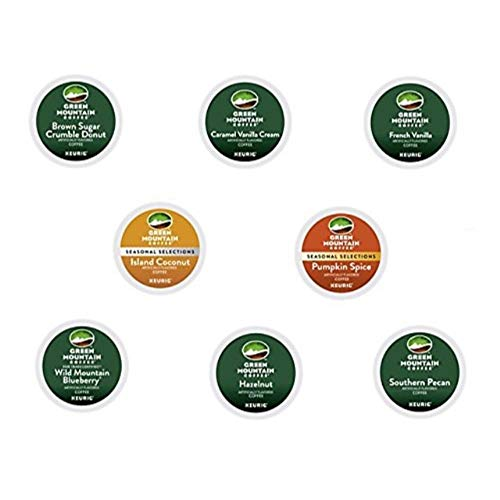40 Count - Green Mountain Flavored Coffee K-Cup For Keurig K Cup Brewers (8 flavors, 5 k-cups each)