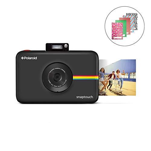 Polaroid SNAP Touch 2.0 13MP Tragbare Digitale Sofortbildkamera mit LCD Touchscreen Display, Zink Null Tinte Drucke 2x3, Schwarz
