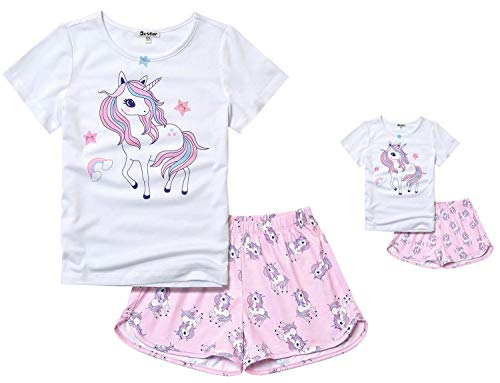 Matching Girls & Dolls Pjs Unicorn Pajamas Sets Cotton America Girl Clothes