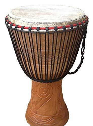 Genuine African Djembe Drum - 13' head (33cm head, 65cm height) with half...