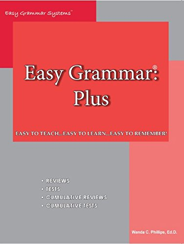 Easy Grammar Plus for teaching grammar