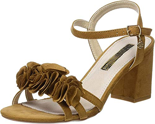 XTI 30714, Sandalia con Pulsera para Mujer, Marrón (Camel), 39 EU