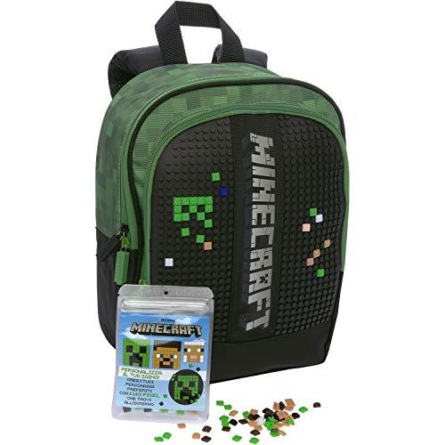 Minecraft - Mini Zaino Verde, Mochila Niños, Taglia unica