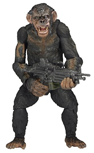 NECA Dawn of The Planet of The Apes 7' Scale Action Figure - Series 2 Koba with Machine Gun