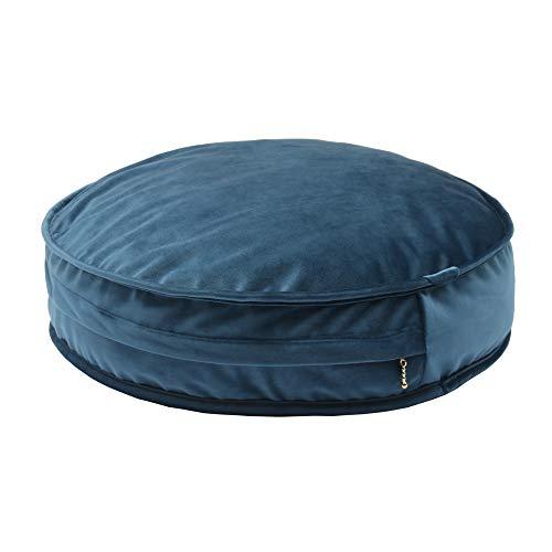 YIUOR Velvet Pouf for Nursery Floor Cushion Soft Round Throw Pillow Baby Room Seat Mattress Bean Bag Chair for Reading Nook Kids Decor Gift
