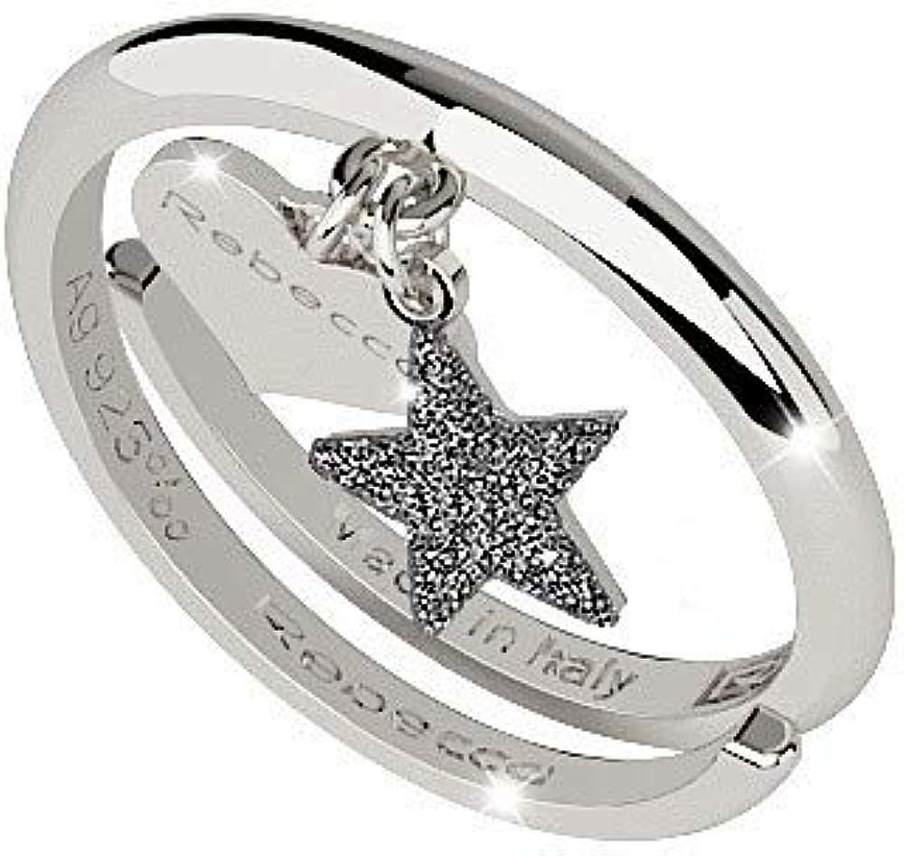 Rebecca anello donna in argento 925 e sabbia di diamanti SJOAAA05