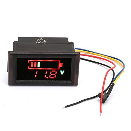 Clasken Indicador de batería, Pantalla LED en Color Práctica función de protección inversa Voltímetro de atmósfera automóvil eléctrico para vehículo eléctrico para Paquete de