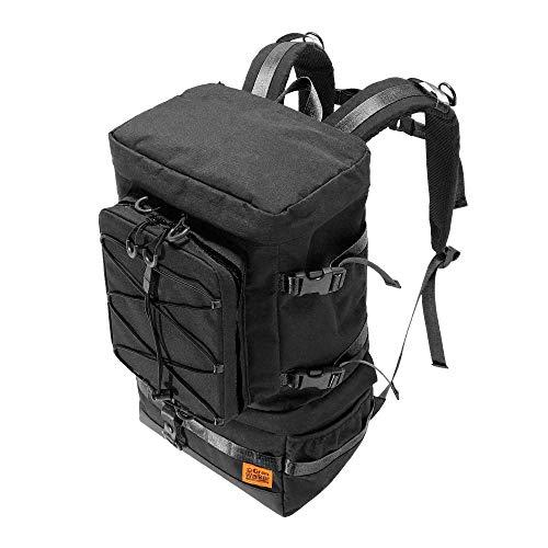 釣り リュック 防水 多機能 大容量 フィッシングバッグ ロッドホルダー 釣りバッグ タックルバッグ ブラック ゴールド (ブラック)