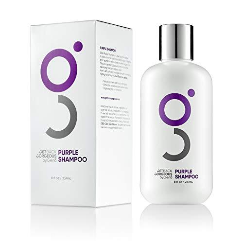 Purple Shampoo for Blonde Hair by GBG – Blonde Shampoo Instantly Eliminate Brassiness & Yellows - Brighten Blonde, Silver & Grey w/Celebrity Stylist Created Purple Toning Shampoo – 8oz