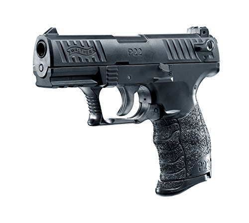 Walther Softair P22Q Pistola con Slitta in Metallo, Massimo 0,5 Joule, 6, Pistola Airsoft, Nera, 6 mm