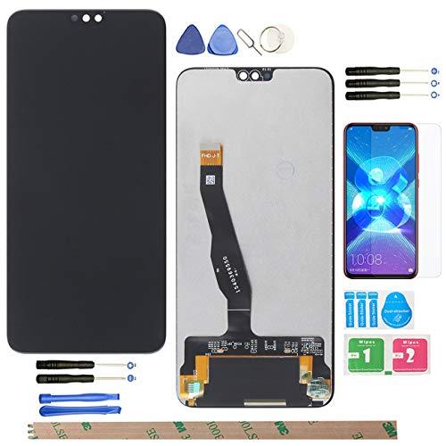 "YHX-OU per 6.5\"" Huawei Honor View 10 Lite Sostituzione LCD Display Touch Screen Digitizer Honor 8X JSN-L11 JSN-L21 JSN-L22 + Utensili +1 Pezzo Vetro temperato (Nero)"