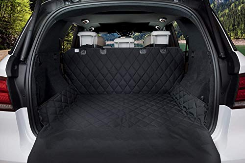 AmorFA Kofferraumschutz für Hund - Universal Auto Kofferraum Hundedecke - Reißfeste&Wasserdichter Kofferraumdecke mit Ladekantenschutz, Universal Auto Kofferraum Hundedecke, Schwarz