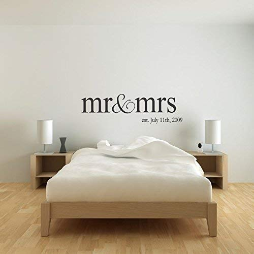Personalized Name Mr and Mrs Wall Decal