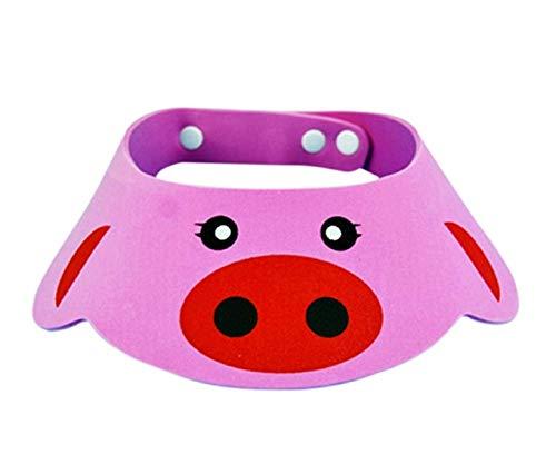 Bonnet de bain - enfant - bain - confortable - douche - protection oculaire - oreilles douces - bonnet bébé pour douche et bain - réglable - idée cadeau originale rose - coloré